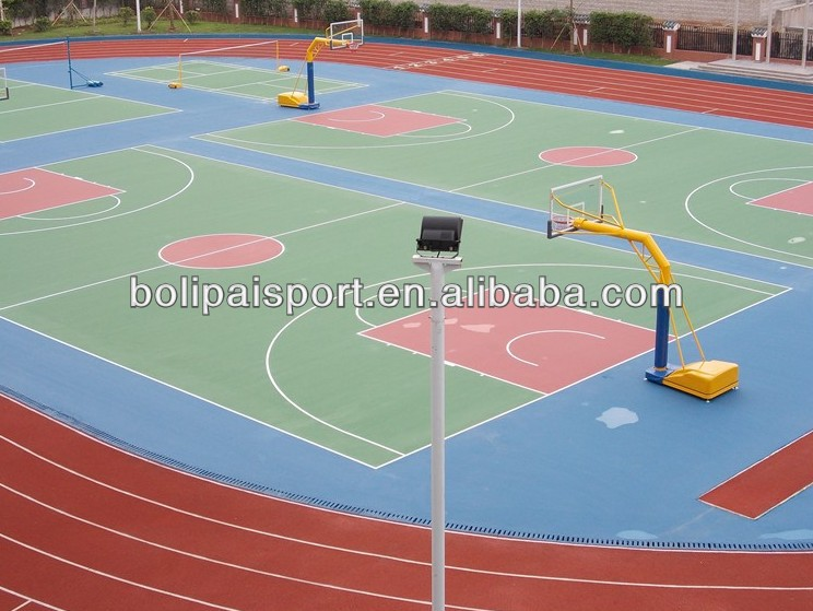Acrylic acid basketball court flooring material