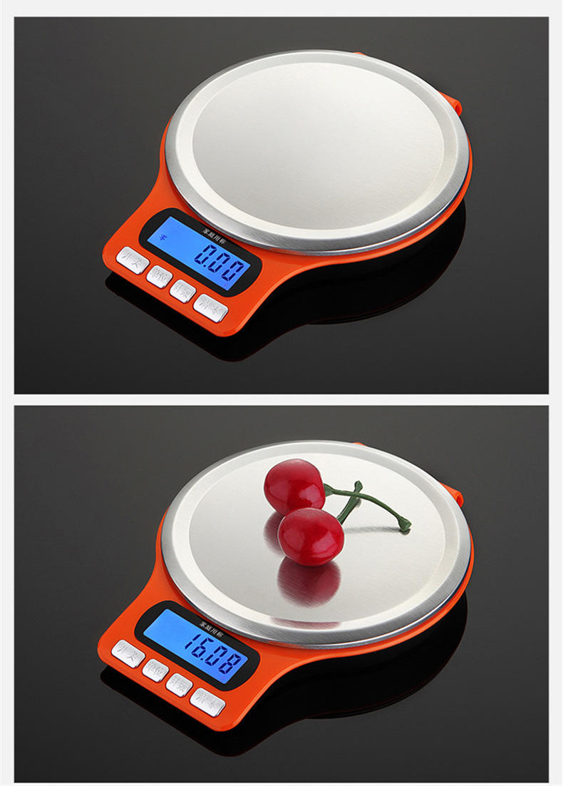 3kg x 0.1g high precision mini digital kitchen scale compact food weighing coffee scale
