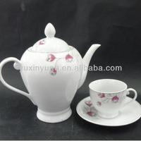 New factory supply ceramic teapot cup porcelain teapot