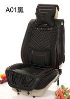 leather car seat cover for standard model car material: pu leather full set