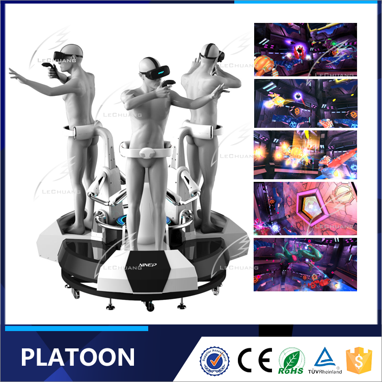 Exciting Motion Rider System Virtual Reality Platoon Arcade Games Machines