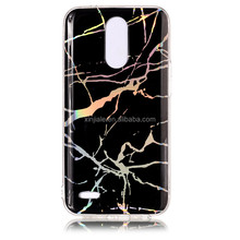 Fashion Luxury IMD Marble Texture Soft TPU Bling Glitter Phone Case for LG G6 K8 2017 Eur For LG K10 2017
