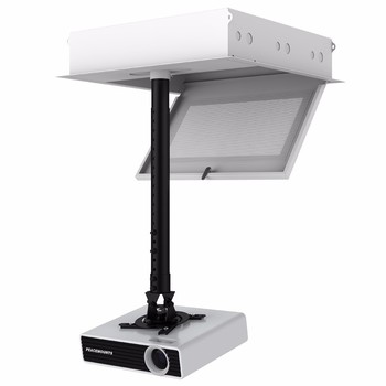 Extension Arm Security Retractable Projector Ceiling Mount Locking Storage Case