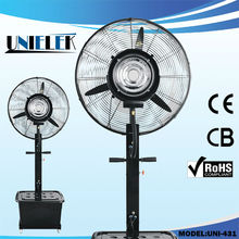 Powerful air flow water cooled industrial fan mist stand fan with large tank capacity
