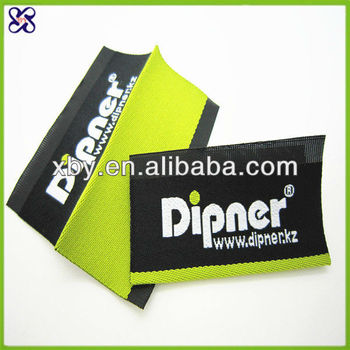 high density woven label /woven scarf labels/china woven labels