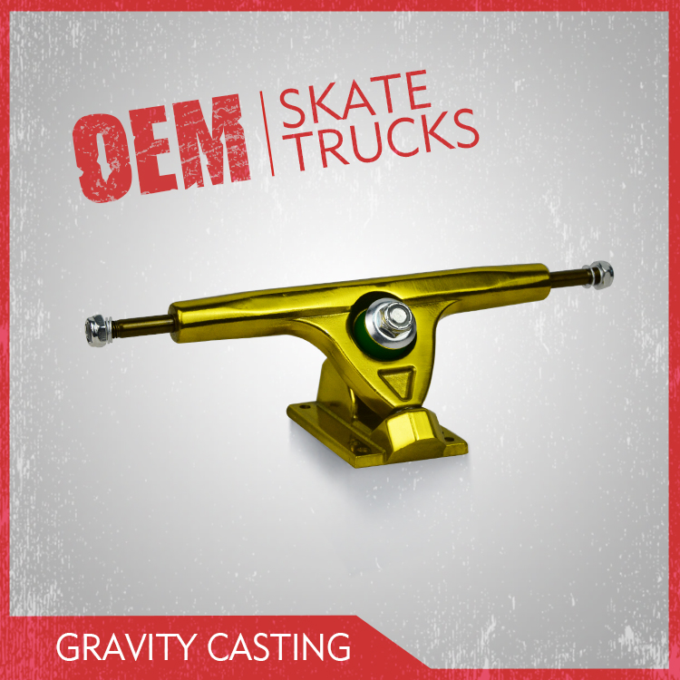 High quality gravity casting custom anodizing longboard truck
