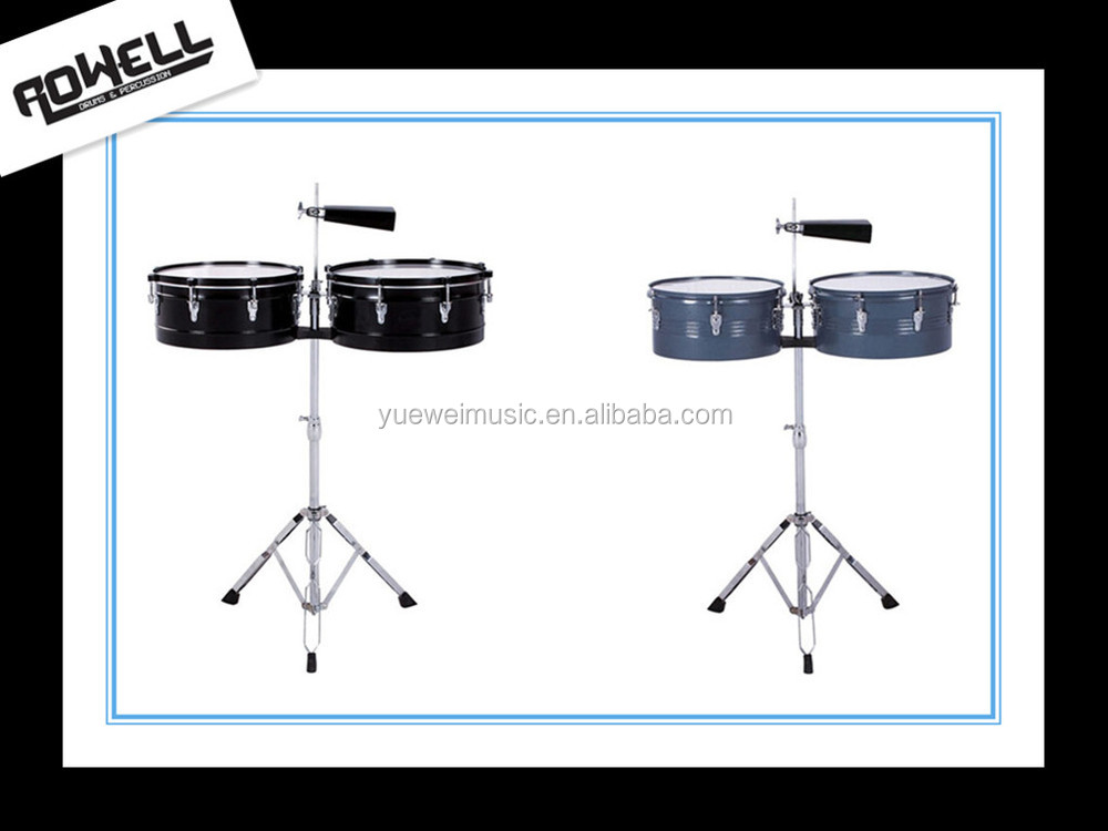 "Professional Timbale Drum 13"" 14"" with chrome stand"