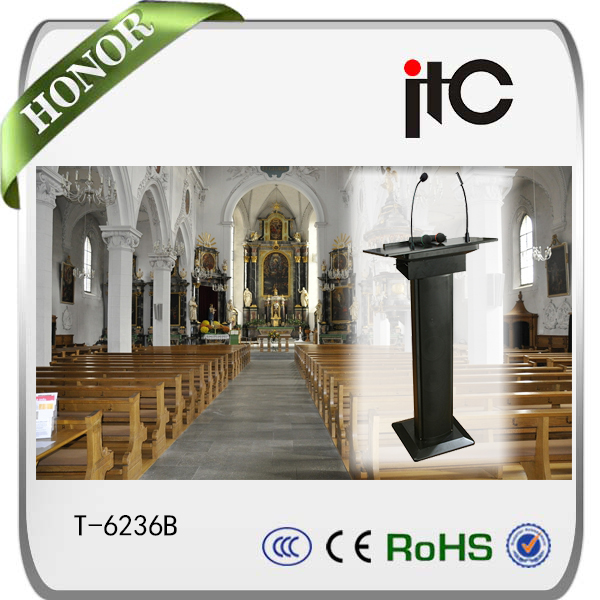 ITC T-6236B 60W professional Cheap Wooden Lectern for church