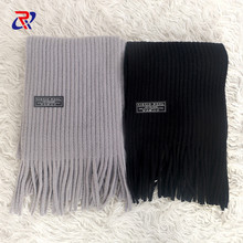 New imitation cashmere winter scarf solid color thick warm neck circumference