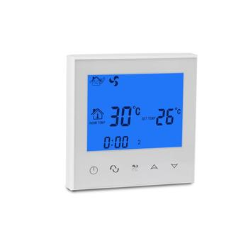 LCD touch screen thermostat regulator for room fan coil units controller