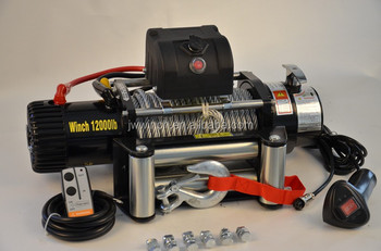 JW 4wd recovery winch with wireless remote