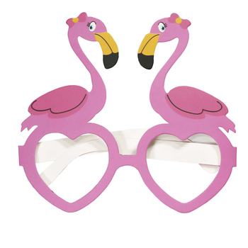 Flamingo Figure Disposable Party Paper Glasses Lensless Heart-Shaped Glasses Fun Toy Party Supplies