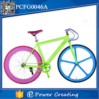 700c colourful DIY colours muscle frame fixed gear bike