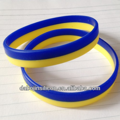 silicone 2 layer ukraine national flag bracelet ukraine flag bracelet