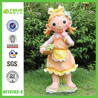 Resin Child Craft Little Girl Garden Statues