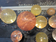 wholesale natural rock quartz crystal ball rutilated quartz crystal ball