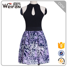 Fancy Floral Bottom Sleeveless Hot Sexy First Night Dress For Women