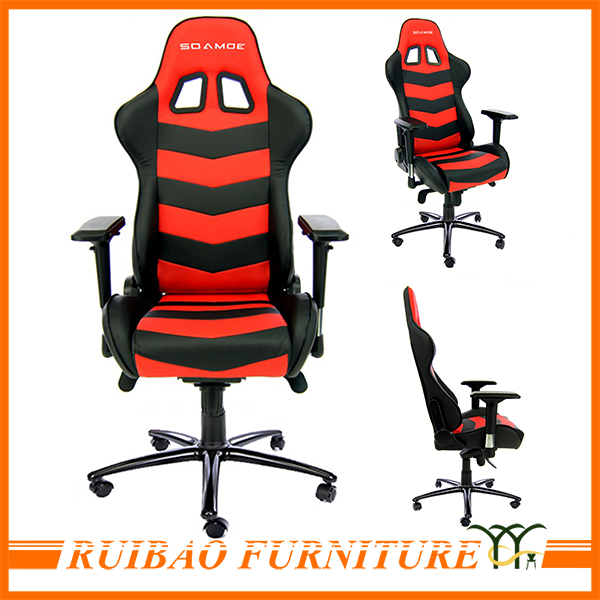 Top Sell Professional Red Leather Office Gaming Chairs Computer Lounge Chair