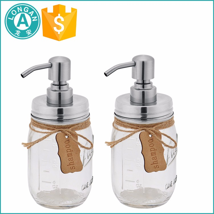 Foaming soap dispenser mason jar with metal lid