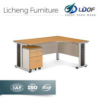 Economical melamine wooden office table with metal leg