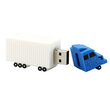 Hot seller container lorries shape OEM logo usb stick 4gb 8GB wholesale