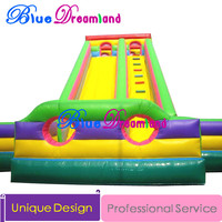 Small Outdoor inflatable slides jumping trampoline