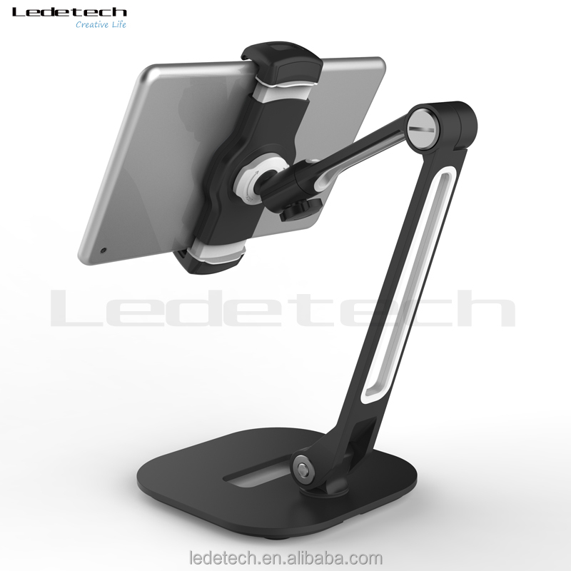 adjustable metal plate aluminum alloy flexible arm holder for smartphone cellphone mobile phone tablet stand mount