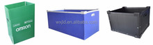 Eco-friendly pp corrugated plastic boxes foldable with ISO SGS certificate