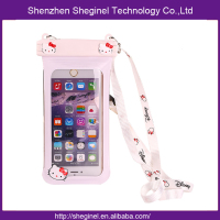 custom pvc waterproof phone dry bag for Iphone 6