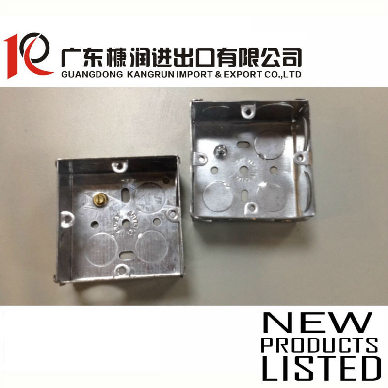 3x3 iron electrical junction box metal electric switch outlet GI Box with terminal