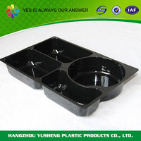 High quality PET disposable plastic fast food tray