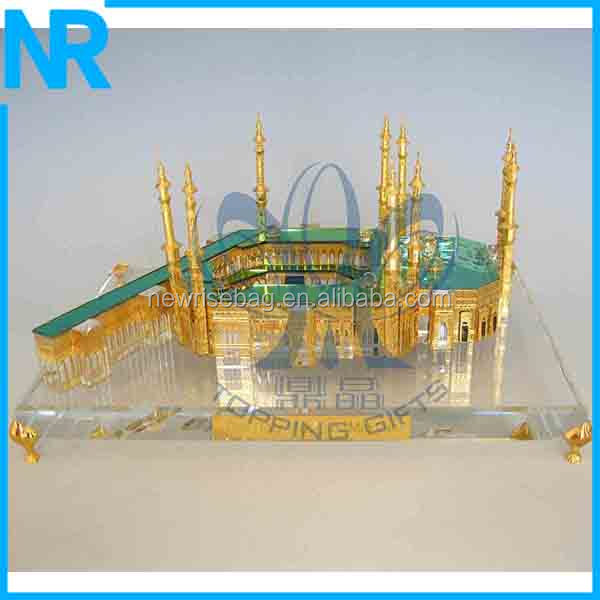 souvenirs and gifts new design crystal mosque model