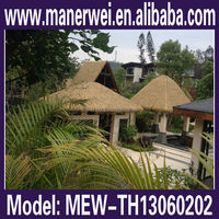 Hot selling Thatch roof used in Maldives resorts! Aluminium Synthetic Thatch Roofing Tiles / Metal Roofing Sheets Prices
