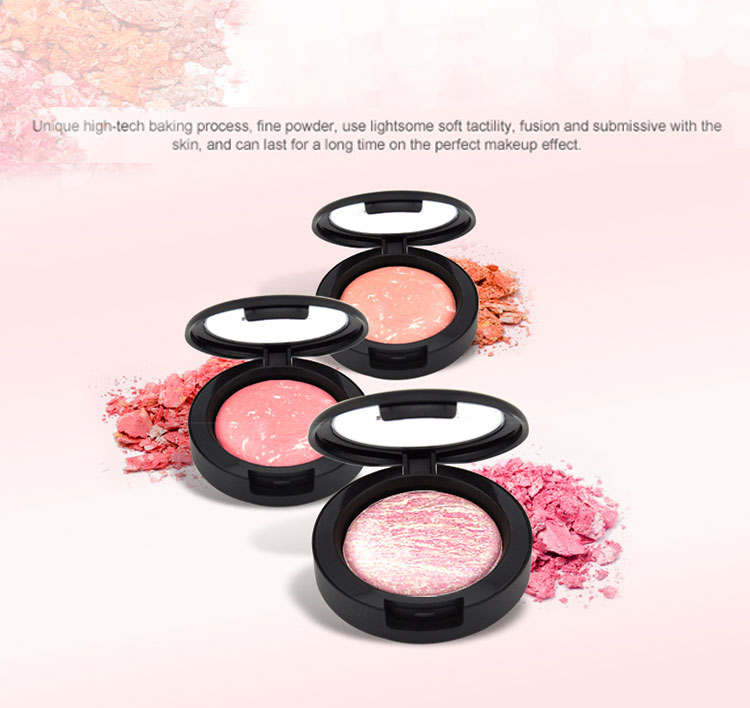 private label makeup blush single baked makeup blusher