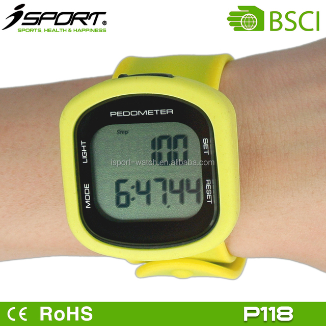Wristband Calories Pedometer Watch with Back Light Wristband Pedometer W181