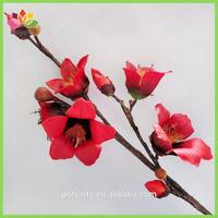 2 Color 2 Size Bombax Branch With 5 Flowers 4 Buds Decorative Branch Flower