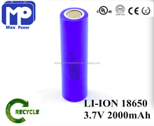 Cheapest 3.7V 2000mah li-ion battery deep cycle battery pack