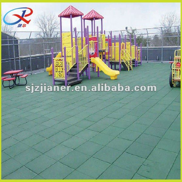Recycled rubber floor use for outdoor kindetgarten playground