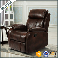 BJTJ modern l shape luxury one seat single sofa recliner 70203