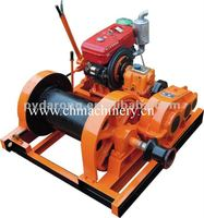 DIESEL MARINE WINCH with small drum for pulling and lifting