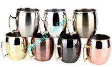 16 oz 100% Pure Hammered Copper Barrel Gift Mug for Moscow Mules