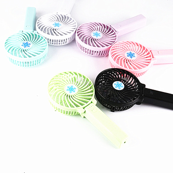 Fashion new product Snowflake energy saving mini usb fan charging small fan Desktop portable Handheld fan with small light