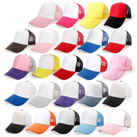 Alibaba wholesale low price summer plain baseball trucker hat promotional trucker mesh cap