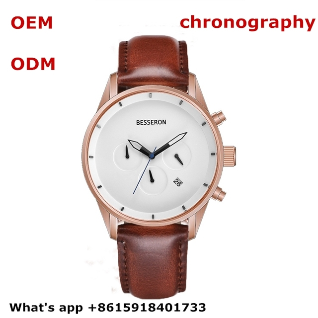 men watch supplier chronography timepiece custom logo military watch multiple time zone stainless steel watches oem