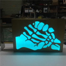 Outdoor advertising 3d RGB led letter lights sign, 3d light box letter sign