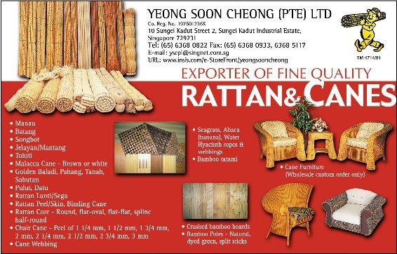 Rattan (Wicker), Bamboo and Natural Fibers