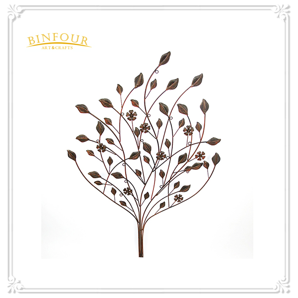 hot sale antique metal leaves shape wall decoration
