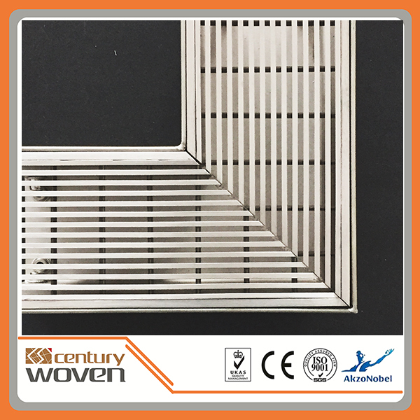 linear stainless steel bathroom drain cover