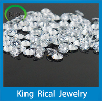 CZ gemstone factory price wholesale white round diamond cutting cz jewelry cubic zirconia 8 hearts and 8 arrows stone