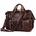 7028C Genuine Pull Up Leather Fashion Style Men's Briefcase Laptop Bag for Men